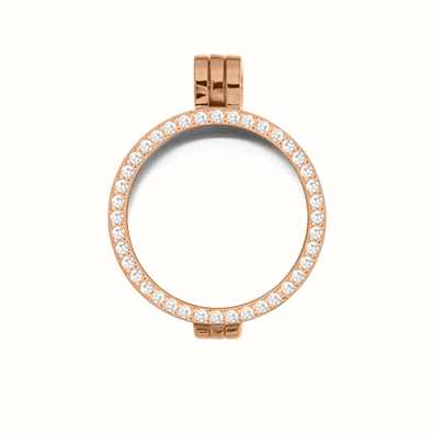 MY iMenso Medallion With Cz-Stones 24mm (925/Rosegold-Plated 24-0072