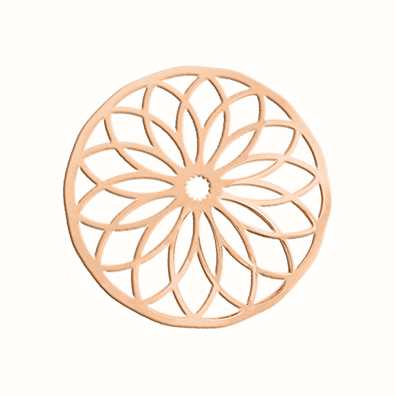 MY iMenso Polished Cover 33mm Insignia (925/Rosegold-Plated) 33-0355