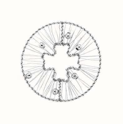 MY iMenso Wire Clover 33mm Fantasy Insignia (925/Rhod-Plat 33-0674