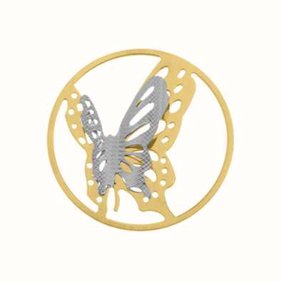 MY iMenso Dubble Butterfly Cover 33mm Insignia (925/Gold-P 33-0834