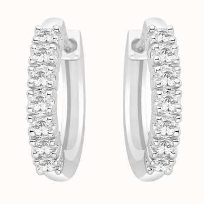 Perfection Swarovski Seven Stone Claw Set Huggy Earrings (0.25ct) E2334-SK