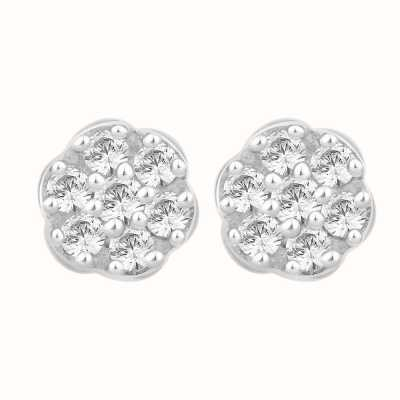 Perfection Swarovski Seven Stone Round Cluster Stud Earrings (1.00ct) E2486-SK