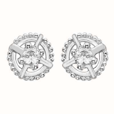 Perfection Swarovski Single Stone Antique Stud Earrings (0.15ct) E2643-SK