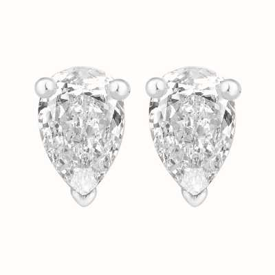 Perfection Swarovski Single Stone Claw Set Pear Stud Earrings (1.50ct) E3930-SK