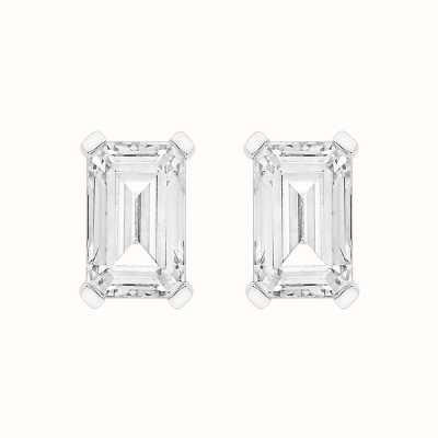 Perfection Swarovski Single Stone Claw Set Emerald Stud Earrings (0.50ct) E4047-SK