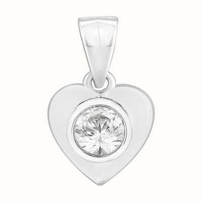 Perfection Swarovski Single Stone Rubover Heart Pendant (0.25ct) P3062-SK