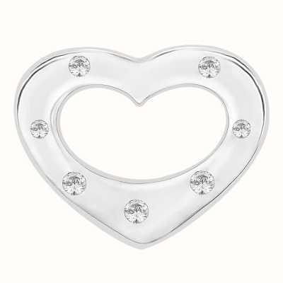 Perfection Swarovski Seven Stone Heart Pendant (0.05ct) P3315-SK