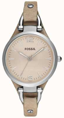 Fossil Womens Analogue Leather Strap Strap ES2830