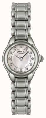 Rotary Ex-Display Womens Stone Set Stainless Steel Watch LB02601/07-EXDISPLAY