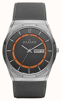 Skagen Mens Melbye Steel Mesh and Titanium Case Multifunction SKW6007