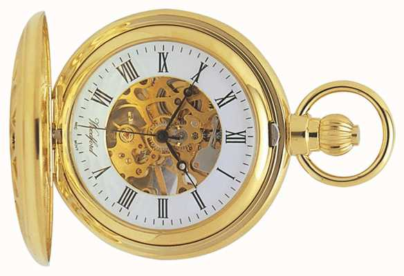 Woodford | Hunter Skeleton | Gold Plated Cut Out | Pocket Watch | 1029