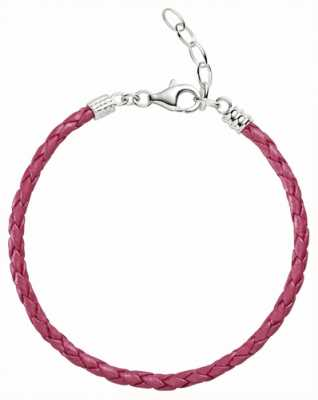 Chamilia One Size Pink Metallic Braided Leather Bracelet 1030-0112