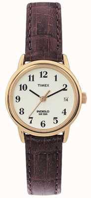 Timex Ladies Natural Brown Easy Reader Watch T20071