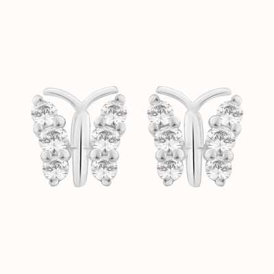 Perfection Swarovski Butterfly Stud Earrings (0.25ct) E2385-SK
