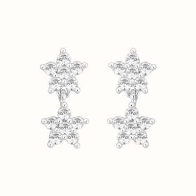 Perfection Swarovski Double Cluster Drop Earrings (1.00ct) E3996-SK