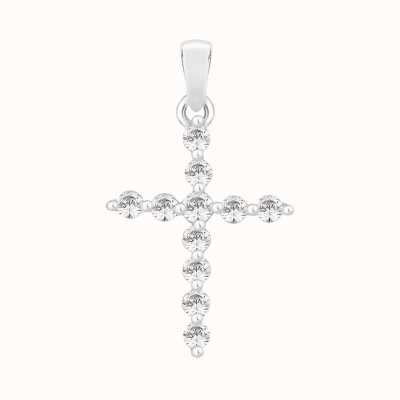 Perfection Swarovski Claw Set Cross Pendant (0.33ct) P3603-SK
