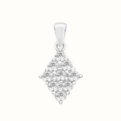 Perfection Swarovski Diamond Shaped Cluster Pendant (0.40ct) P5132-SK