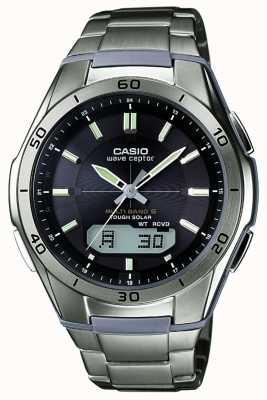 Casio Mens Wave Ceptor Black Dial Titanium Watch WVA-M640TD-1AER