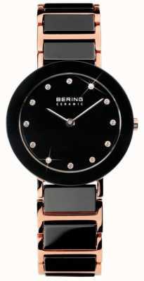 Bering Modern Dual Tone Ceramic Crystal Watch 11429-746