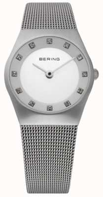 Bering Ladies Minimalist Watch | Stainless Steel Mesh Bracelet | 11927-000