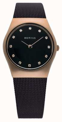 Bering Time Ladies Milanese Brown Mesh Watch 11927-262
