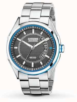 Citizen Mens Eco Drive HTM Stainless Steel Bracelet Date Watch AW1141-59E