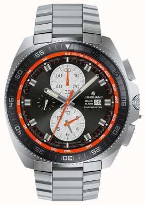 Junghans Ex Display Mens 1972 Chronoscope Solar Stainless Steel Watch 014/4202.44-EX-DISPLAY