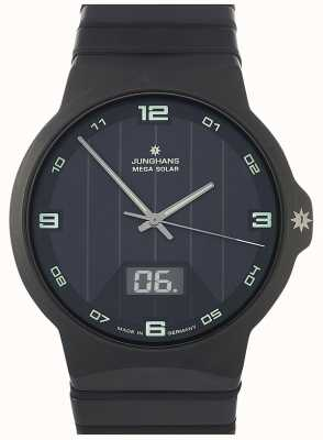 Junghans Force Mega Solar | Black Ceramic Strap | 018/1436.44