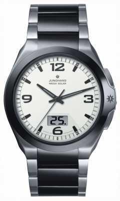 Junghans Mens Spektrum Mega Solar Steel & Black Ceramic Watch 018/1423.44