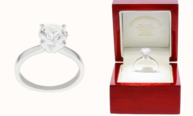 Platinum 2ct Diamond Solitaire Tiffany H/I VS2/SI1 FCD00201
