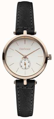 Barbour Lisle Black Leather Strap Watch BB011RSBK