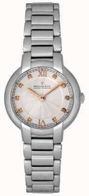 Dreyfuss Ladies Diamond Set Silver Watch DLB00060/D/01