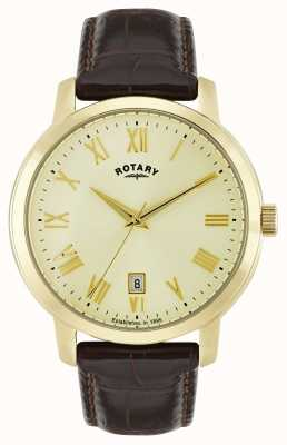 Rotary Mens Sloane Gold Tone Watch GS02462/03