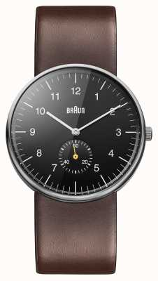 Braun Mens Black Brown Watch BN0024BKBRG