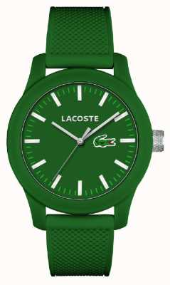 Lacoste Mens 12.12 Green Silicone Strap Green Dial 2010763