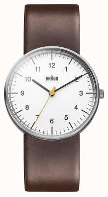 Braun Mens White Brown Watch BN0021WHBRG