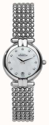 Michel Herbelin Womens Steel Perle, Crystal, Pearl Dial 16873/B59