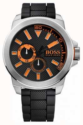 Hugo Boss Orange Mens Stainless Steel, Black Rubber Strap 1513011