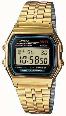 Casio Mens Digital Retro Gold Plated A159WGEA-1EF