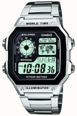 Casio Digital Multifunction World Timer Quartz AE-1200WHD-1AVEF