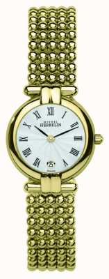 Michel Herbelin Womens Perle, Gold Watch 16873/BP08