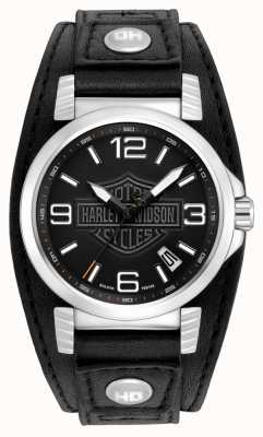 Harley Davidson Mens Stainless Steel Date Watch 76B163