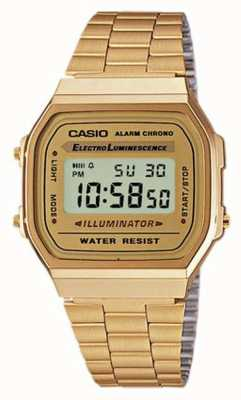 Casio Unisex Gold Plated Retro Digital Collection A168WG-9EF