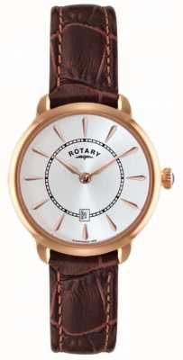 Rotary Ladies Brown Leather Strap Watch LS02919/03