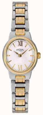 Rotary Womens Two Tone Bracelet White Dial LB02747/01