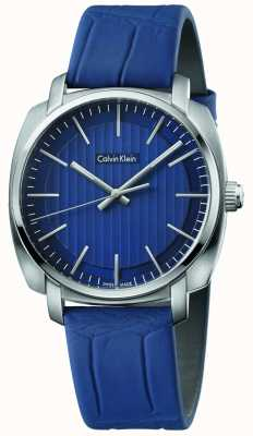 Calvin Klein Mens Highline Blue Leather Strap Blue Dial K5M311VN