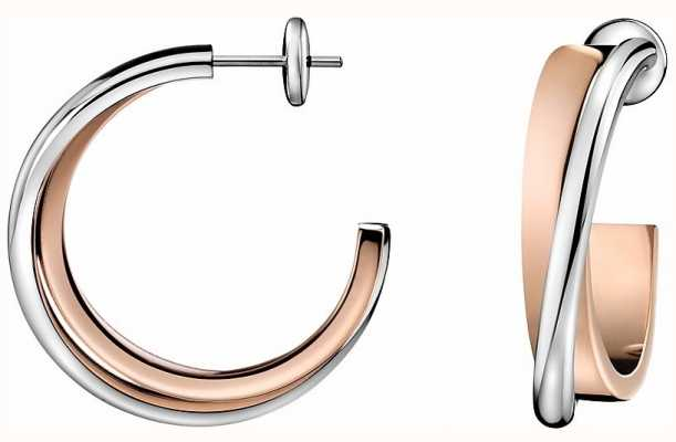 Calvin Klein Coil Stainless Steel Rose Gold Pvd Earrings KJ63BE010100