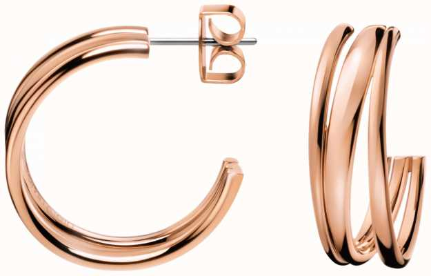 Calvin Klein Sumptuous Rose Gold PVD Plated Earrings KJ2GPE100100