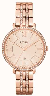 Fossil Womens Jacqueline Rose Gold PVD Stone Set ES3546