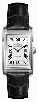 Dreyfuss Womens Black Leather Strap White Dial DLS00140/06